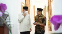 Gubernur Sumbar Mahyeldi Ansharullah bersama cucu Chatib Sulaiman yaitu Sudarman Chatib