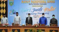 Gubernur Sumbar Irwan Prayitno menghadiri rapat paripurna HUT Padang Panjang ke 230