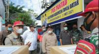 Bupati Eka Putra meninjau Posko Pengamanan Lebaran di perbatasan Tanah Datar