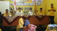 Suasana Rapat Konsolidasi Partai Golkar Dharmasraya dengan Tim SR-Labuan di kantor Golkar.