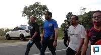 Audy Joinaldi Saat Jalan Santai Pagi di Bukit Gado-gado, Kota Padang