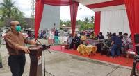 Pjs. Wako Solok, Asben Hendri saat membuka simulasi pungut hitung Pilkada 2020 kota Solok di Tanjung Paku