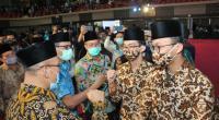 Kafilah Sumbar cabang Fahmil Qur'an di Auditoriun Universitas Negeri Padang, Kamis (19/11)
