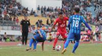 Pertandingan Semen Padang FC menghadapi PSPS Riau