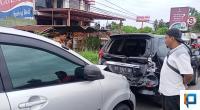 Kecelakaan beruntun di Baypas Padang
