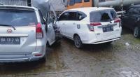 Kondisi Toyota Avanza dan Toyota Calya Usai Kecelakaan di Jalinsum Sijunjung