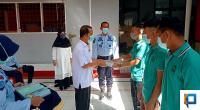 Kepala Dinas Pendidikan A.H. Agustion didampingi Kalapas Payakumbuh Klas IIB Muhammad Kameily saat membuka Program Pendidikan Paket A, B, dan C