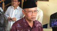 Ketum PP Muhammadiyah, Haedar Nashir saat memberi keterangan terkait wafatnya Ketua PP Muhammadiyah, Yunahar Ilyas di kantor PP Muhammadiyah, Jumat (3/1/2020).
