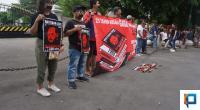 Koalisi Masyarakat Untuk Udin di Yogyakarta saat Aksi Diam di depan Gedung Agung atau Istana Negara Yogyakarta
