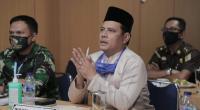 Wawako Solok, Reinier saat Vidcon bersama Gubernur Sumbar di Balaikota Solok.