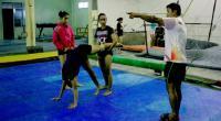 Latihan atlet jelang PON