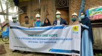 PT PLN (Persero) Unit Induk Wilayah Sumatera Barat kembali memberikan bantuan berupa Pasang Baru gratis kepada masyarakat yang membutuhkan melalui program One Man One Hope, Selasa (7/4)