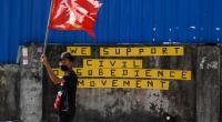 Aksi protes terhadap kudeta militer di Myanmar