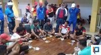 Wakil Gubernur Sumbar, Nasrul Abit motivasi atlet PON XXI Papua yang sedang lakukan TC di Sport center GOR H Agus Salim, Sabtu, 8 Agustus 2020