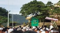 PelaksanaanSalat  Idul Fitri di Plaza Kantor Pusat Semen Padang tahun 2019.