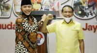 Ketua Umum PSSI Mochamad Iriawan dan Menpora Zainudin Amali
