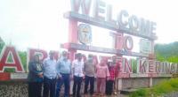 Rombongan Anggota DPRD Solsel Di Gerbang masuk Kabupaten Kerinci