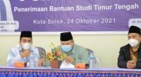 Wako Solok, H. Zul Elfian Umar membuka seleksi dan pembekalan studi timur tengah di Masjid Agung Al-Muhsinin