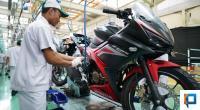 Proses produksi sepeda motor Honda