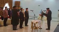 Gubernur Sumbar Mahyeldi Ansharullah saat melantik pejabat eselon II di Pemprov Sumbar