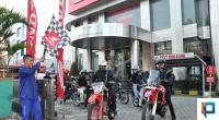 Pelepasan Peserta Honda Bikers Adventure Camp di Main Dealer Hayati Padang