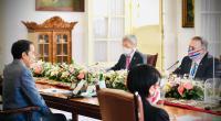 Presiden Joko Widodo menerima kunjungan kehormatan Menteri Luar Negeri Amerika Serikat, Mike Pompeo