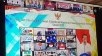 Presiden Jokowi saat membuka Rapat Koordinasi Nasional (Rakornas) Penanggulangan Bencana Tahun 2021 secara virtual di ruang kerjanya, Rabu (3/3/2021)
