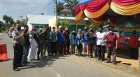 Tim Relawan Desa Lawan COVID-19 bersama jajaran perwakilan dari Kecamatan Gunung Tuleh, Polsek, TNI, dan Puskesmas Nagari Rabi Jonggor saat di berada di Posko Satgas COVID-19