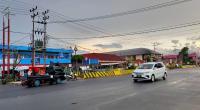 Proyek pendistrian di Jalan Sudirman-Soekarno Hatta Kota Payakumbuh.
