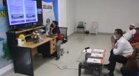 Bupati Pessel, Rusma Yul Anwar saat menghadiri secara virtual penyampaian Opini WTP dari BPK RI Sumbar di Pessel