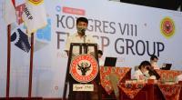 Rinold Thamrin yang terpilih sebagai Ketua Umum Forum Komunikasi Karyawan Semen Padang Group (FKKSPG) periode 2021-2024.