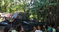 Kondisi rumah warga yang terbakar di Kampung Kayu Gadang-Pessel