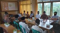 Sosialisasi The New Normal yang disampaikan tim CSR Semen Padang di Kantor KAN Limau Manih, Rabu, 27 Mei 2020