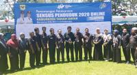Jajaran BPS Tanah Datar saat pencanangan Sensus Penduduk 2020 Online
