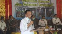 Bupati Pessel, Rusma Yul Anwar saat membuka Musrenbang tingkat Kecamatan Ranah Pesisir