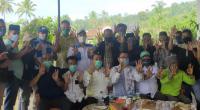 Calon Wakil Gubernur (Cawagub) Sumatera Barat (Sumbar), Audy Joinaldy bersilaturahmi dengan Calon Bupati (Cabub) Lima Puluh Kota, Rizki Kurniawan Nakasri, Jorong Lubuk Jantan  Nagari Gurun, Kecamatan Harau, Kabupaten Lima Puluh Kota, Jumat 23 Oktober 2020.