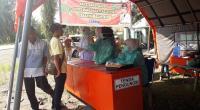 Posko Pengecekan Suhu Tubu dan Pendataan warga masuk ke Pasbar