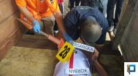 Rekonstruksi pembunuhan korban di kebun jagung, Jorong Bumbuang, Nagari Situjuah Batua, Kecamatan Situjuah Limo Nagari, Kabupaten Lima Puluh Kota.