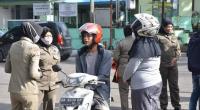 Razia Masker , Tim Gabungan Polri Turun ke Pasar Padang Panjang