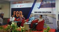 Komisaris PT Hutama Karya (Persero) Wahyu Muryadi saat saat diskusi di Hotel Inna Muara Padang, Kamis, 27 Februari 2020