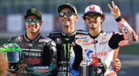 Rossi bersama anak didiknya yang kini menjadi pesaing di kelas utama MotoGP,