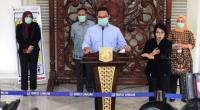 Gubernur DKI Jakarta Anies Baswedan kembali memberikan keterangan kepada pers soal penanganan virus corona Covid-19 di ibu kota pada Kamis (26/3/2020) di Balai Kota.