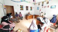 Kepala Madrasah MTsS Lubuk Kilangan bersama staf dan guru saat rapat pengumuman kelulusan.