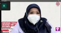 Jubir Vaksin Covid-19 Kemenkes RI dr. Siti Nadia Tarmizi, M.Epid (kanan) saat menjadi pemateri pada webinar yang digelar PT Semen Padang.