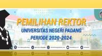 Empat bakal calon (balon) rektor Universitas Negeri Padang (UNP) bersaing di pemilihan rektor hari ini, Rabu, 26 Februari 2020