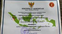 Sertifikat Akreditasi Perpustakaan Nasional yang diraih SDN 10 Painan Timur-Pessel