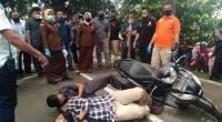 Rekonstruksi pengeroyokan yang membuat korban meninggal dunia di Payakumbuh.