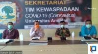 Video conference Wakil Gubernur Nasrul Abit dan Satgas COVID 19 Sumbar, Minggu, 5 April 2020