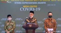 Menko PMK Muhadjir Effendy saat konferensi pers Jumat (8/5/2020).