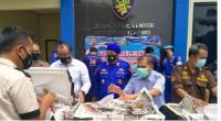 Ditpolairud Polda Banten gelar rilis media terkiat pengungkapan penyelundupan bibit lobster senilai Rp6 Milyar